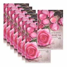 Nature Republic Real Nature Rose Mask 23ml X 8 pcs Moisturizing Korean Cosmetics