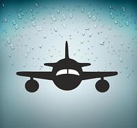 Selbstklebend Aufkleber Auto Flugzeug Luftfahrt Flughafen Flugzeuge Schwarz