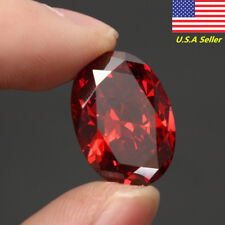 US 19.89CT Pigeon Blood Ruby 13X18MM Artificial Simulation Diamond Oval Cut Gems