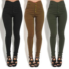 Women High Waisted Slim Fit Denim Pants Ladies Jegging Pencil Skinny Trousers