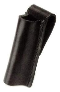HWC Leather Mini Maglite Mag PLAIN Black AA Flashlight Belt Case Holder Holster