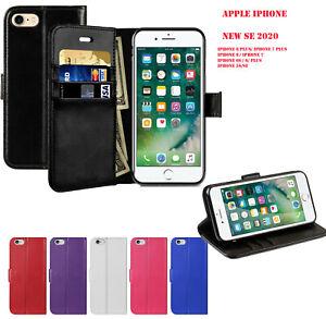 Plain Flip Wallet Leather Case Cover For Apple iPhone 11 PRO SE-20 XS XR 8 7 6 5