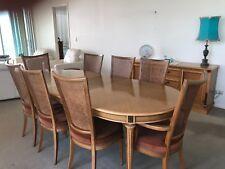 Elegant Classic Dining Tas Oak 6 Seat + 2 carver 2 Buffet Berryman Quality C1970