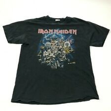 IRON MAIDEN Shirt Size Extra Large Black Band Tee Loose Fit Distressed Graphic
