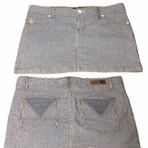 Volcom Juniors Pin Stripe Wasteland Miniskirt Size 9