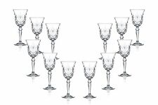 Melodia Wine Stemmed Wine Glasses 7.25 Oz, Crystal Cut Glassware Set of (12)