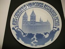 "Bing And Grondahl Plate 1907 Viborg Cathedral Restoration 8 7/8""Dia. Cm#27"