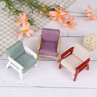 1:12 Dollhouse Miniature Sofa Dolls House Decoration Wooden Modern Manual Se TRF
