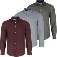 Mens Casual Checked Print Long Sleeve Top100% Cotton Shirt Smart S-XXL RRP £25