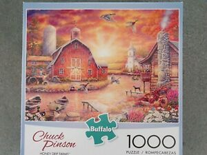 """Chuck Pinson""""Honey Drip Farms""""a 1000pc puzzle completed once from new."""