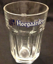 Hoegaarden Glass Beer Stein 0.5 L / 18oz, with white lettering, flawless