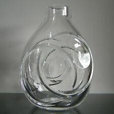 RARE - VASE cristal taillé signé Julien VIATOUR (tailleur au Val St Lambert )
