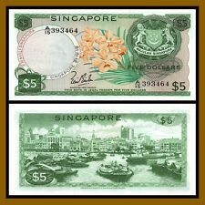 Singapore 5 Dollars, ND 1967-1973 P-2a Unc