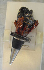 Beautiful Pampelonne Austrian Crystal Coral Bottle Stopper New in Box