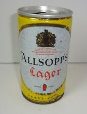 Vintage Rare Allsopp's Lager Allied Breweries Uk Pull Tab Beer Can