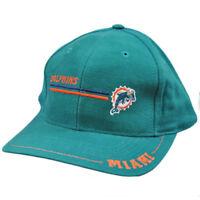 NFL Miami Dolphins Vintage Old School Flat Bill Teal Orange Logo 7 Snapback Hat