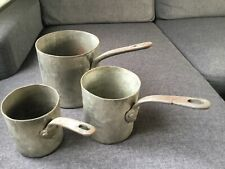 Lot 3 casseroles cuivre etamé professionnelles anciennes Gaillard Paris