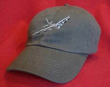 USAF B-52 Stratofortress ball cap low-profile embroidered aviator hat OD Green