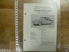 ST03-STUDEBAKER TYPE COMMANDER 1955 -TECHNICAL INFO SEDAN VINTAGE CAR