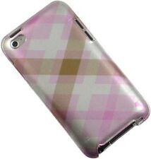 Neu Pink Pastell Argyle Schutzhülle Hartschale Für Apple Ipod Touch 4 4G 4TH Gen
