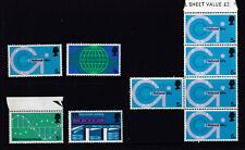 UK 1969 QE II Telecommunications Complete Set + Block - MUH