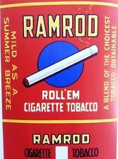Ramrod Roll'em Cigarette Tobacco Original Vintage Package Label Detroit, Mi.