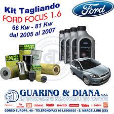 KIT TAGLIANDO 4 FILTRI + OLIO FORD PER FORD FOCUS 1.6 TDCi 66/80 Kw 90/110 Cv