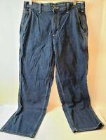 Carhartt B03 Carpenter Dungaree Fit Denim Blue Jeans Size 30 X 30 medium wash