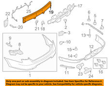 FORD OEM Rear Bumper-Impact Bar Reinforcement Beam Support Rebar BG1Z17906A