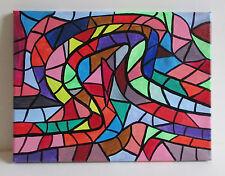 Original Malerei FARBSPIRALE 30X40 Acryl Leinwand auf Keilrahmen signiert