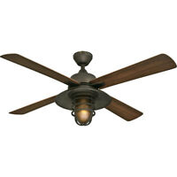 """Westinghouse Great Falls 52"""" Four-Blade In/Outdoor Ceiling Fan, Bronze 7204300"""