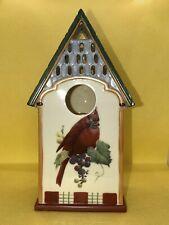 Lenox Winter Greetings Holiday Bird House Cardinal Votive Candle Holder Tealight