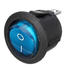 Waterproof ON/OFF Car 12V ABS Round Rocker Dot Boat LED Light Toggle SPST Switch
