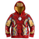 Kids Boys Toddler Marvel Superhero Hooded Top Zip Coat Hoodies Sweatshirt Outfit