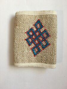 Handmade Eco Friendly Hemp Fold Wallet Card Holder Cotton Coin Purse Nepal HP29