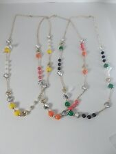 Banana Republic Mad Men® Collection Bauble Necklace NWT $39.99 G Y P Set of 3