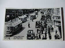 USA679 - NEW YORK RAILWAYS - TROLLEY CAR Hobble Skirt Cars on Broadway PHOTO