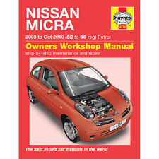 Nissan Micra Haynes Manual 2003-07  1.0 1.2 1.4 Petrol Workshop Manual
