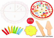 BRAND NEW educational TOY wooden PARTY CAKE pretend PLAY food kitchen CHILD GIFT