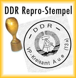 DDR Siegel - DDR Stempel - VP-Kreisamt Aue (13 a) Volkspolizei Kreisamt Aue 13 a