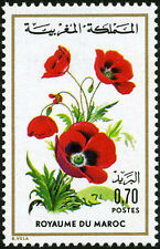 YT 719  MAROC Timbre Neuf ** TTB  FLORE MAROCAINE COQUELICOT 1975
