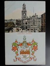 Kent: Chatham Town Hall c1906 Heraldic Coat of Arms Pub by Thornton Bros