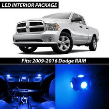 2009-2016 Dodge RAM 1500 2500 3500 Blue Interior LED Lights Package Kit