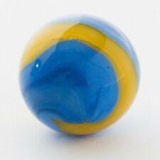 "Vintage Akro Agate 3 Color Opaque Corkscrew Shooter Marble .74"" #52"