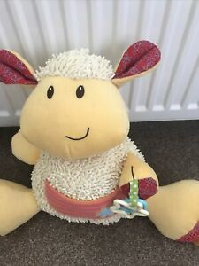 ELC Lamb Cuddley Toy With Teething Rings And Rattle. Immaculate condition