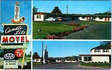 DANVILLE, IL Illinois  CANDLE-LITE MOTEL  C1950s Cars  Roadside Postcard
