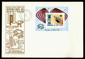 DR WHO 1974 UPPER VOLTA FDC UPU ANIV CACHET S/S SPACE  Lg20594