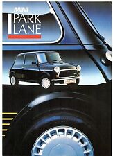 Austin Mini Park Lane Limited Edition 1987 UK Market Sales Brochure
