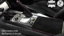 PINK STITCH SUEDE GEAR HANDBRAKE BOOT & ARMREST COVER FOR HONDA S2000 99-03