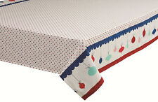 DAVIS & WADDELL CHRISTMAS OH WHAT FUN TABLECLOTH 6-8 SEATER 150CMX230CM